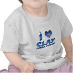 I love Clay, New York Tee Shirts