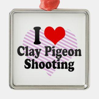 I love Clay Pigeon Shooting Christmas Tree Ornament