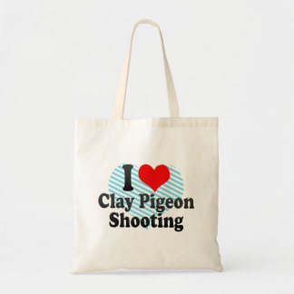 I love Clay Pigeon Shooting Tote Bag