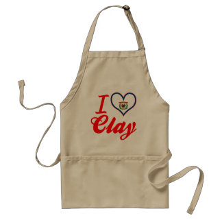 I Love Clay, West Virginia Aprons