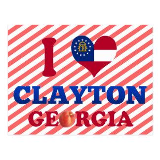 I Love Clayton, Georgia Postcard