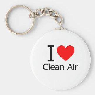 I Love Clean Air Keychain
