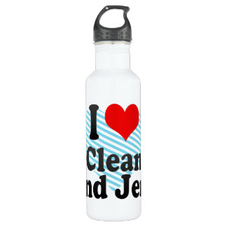 I love Clean And Jerk Stainless Steel Water Bottle