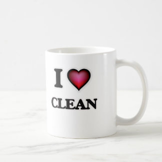 I love Clean Coffee Mug