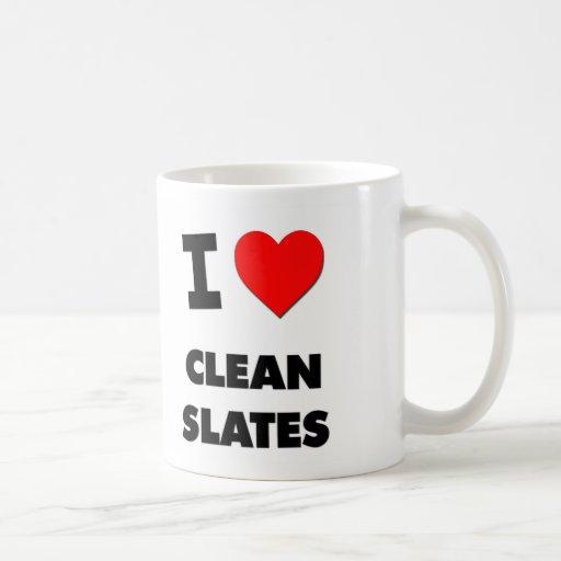 I love Clean Slates Classic White Coffee Mug
