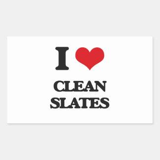 I love Clean Slates Rectangle Sticker