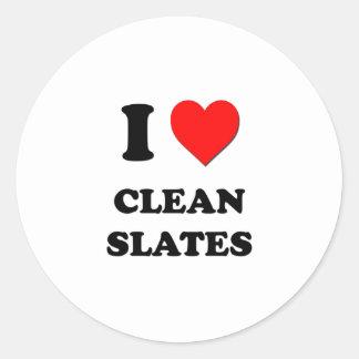 I love Clean Slates Sticker
