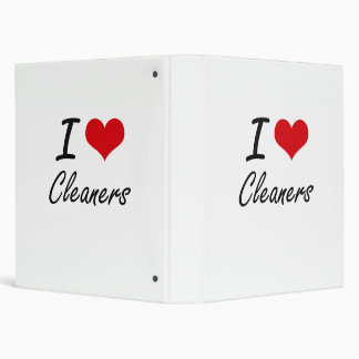 I love Cleaners Artistic Design Binders