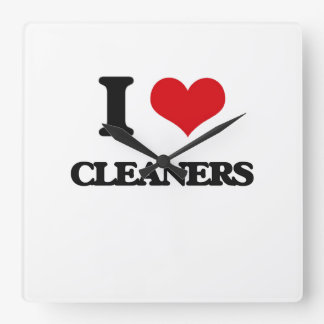 I love Cleaners Square Wallclock