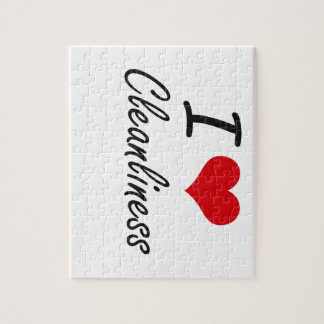 I love Cleanliness Artistic Design Jigsaw Puzzles