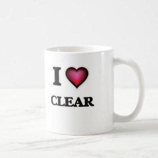 I love Clear Coffee Mug