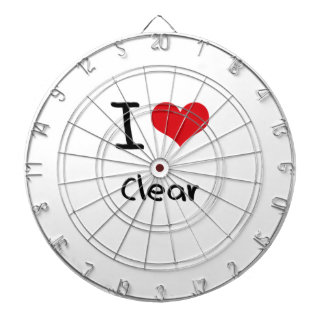 I love Clear Dart Board
