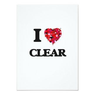 I love Clear 5x7 Paper Invitation Card