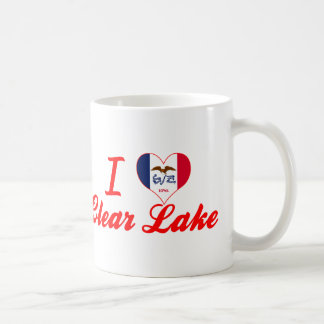 I Love Clear Lake, Iowa Mugs