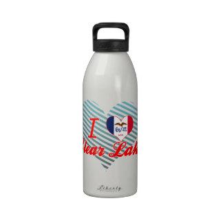 I Love Clear Lake, Iowa Reusable Water Bottle