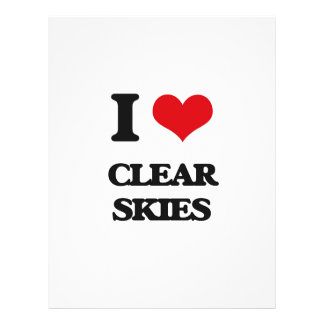 I love Clear Skies Personalized Flyer