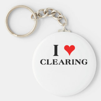 I Love Clearing Keychain
