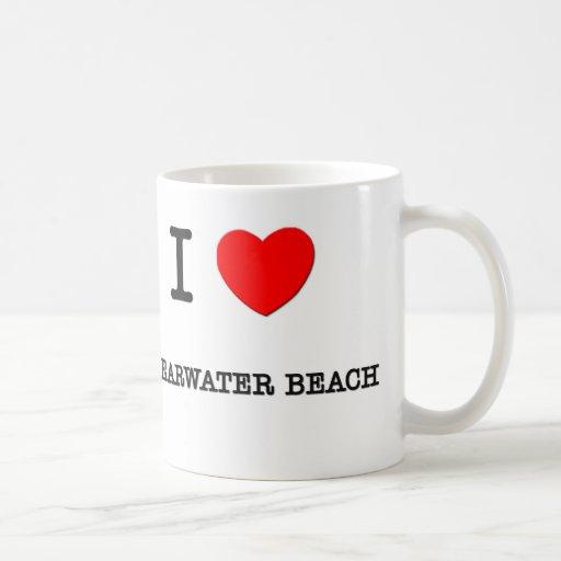 I Love Clearwater Beach Florida Classic White Coffee Mug