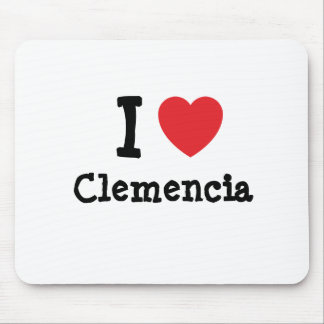 I love Clemencia heart T-Shirt Mouse Pad