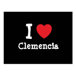 I love Clemencia heart T-Shirt Postcards