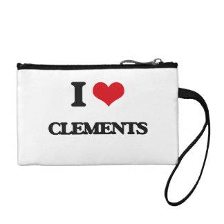 I Love Clements Change Purse