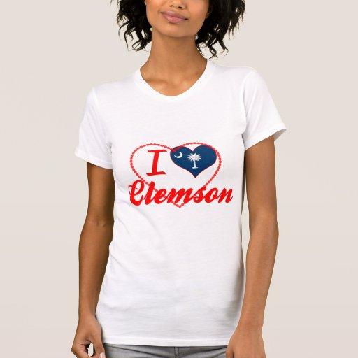 I Love Clemson, South Carolina Tee Shirts