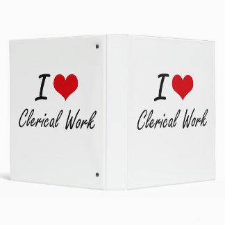I love Clerical Work Artistic Design 3 Ring Binder