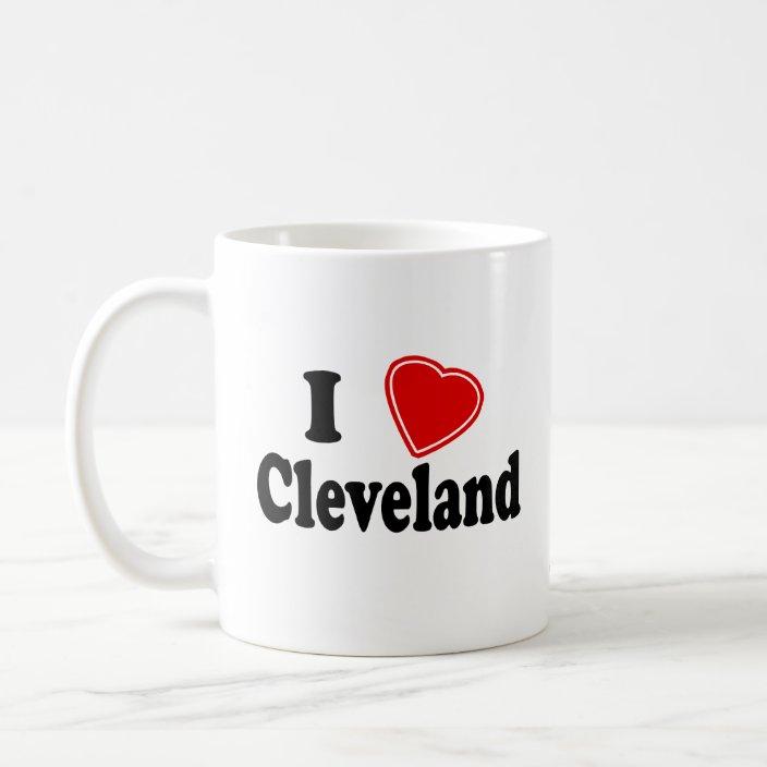 I Love Cleveland Coffee Mug