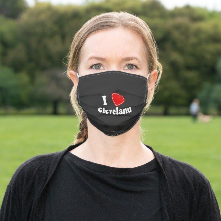 I Love Cleveland Face Mask