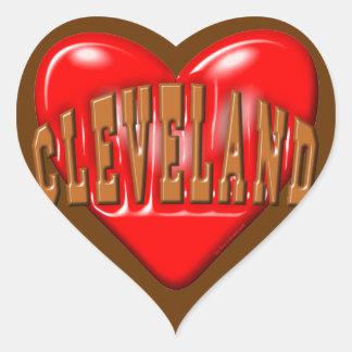 I Love Cleveland Heart Sticker