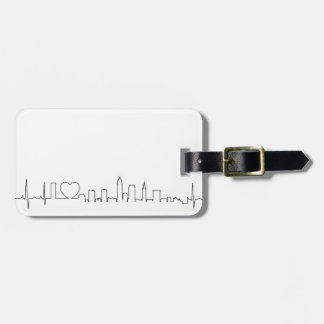 I love Cleveland in an extraordinary ecg style Bag Tag