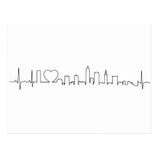 I love Cleveland in an extraordinary ecg style Postcard