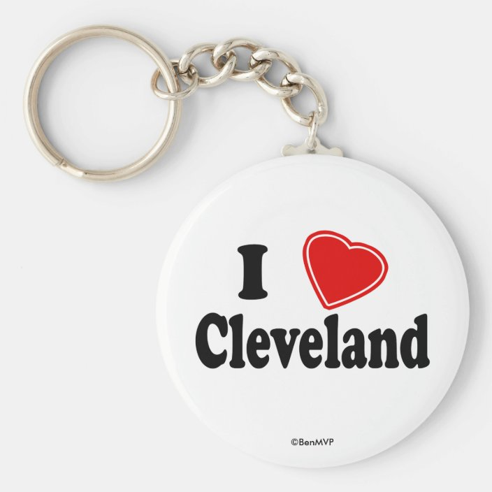 I Love Cleveland Keychain