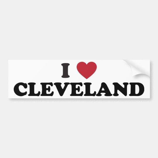 I love cleveland ohio bumper sticker