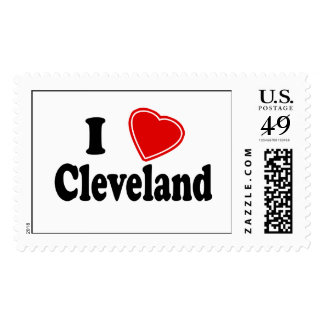 I Love Cleveland Postage Stamps