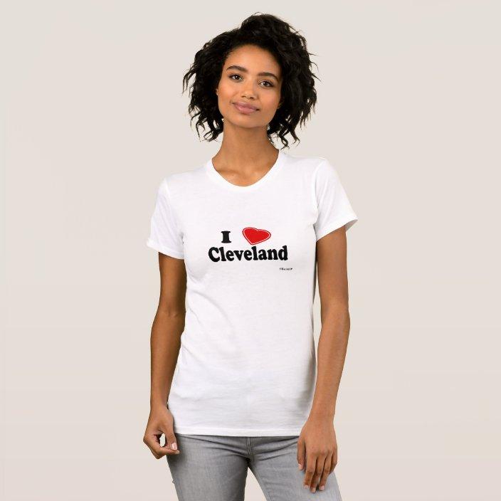 I Love Cleveland T Shirt