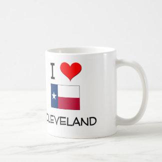 I Love Cleveland Texas Coffee Mug