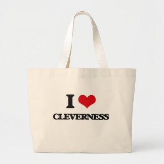 I love Cleverness Jumbo Tote Bag