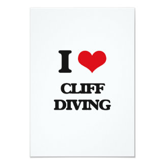 I love Cliff Diving 3.5x5 Paper Invitation Card
