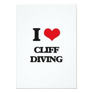 I love Cliff Diving 5x7 Paper Invitation Card