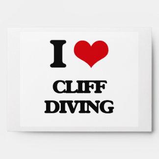 I love Cliff Diving Envelope