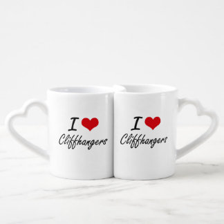 I love Cliffhangers Artistic Design Couples' Coffee Mug Set