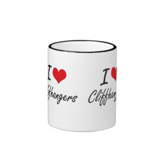 I love Cliffhangers Artistic Design Ringer Coffee Mug