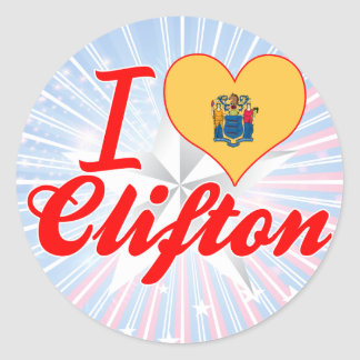 I Love Clifton, New Jersey Stickers