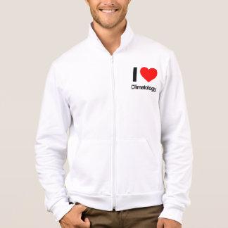 i love climatology printed jacket