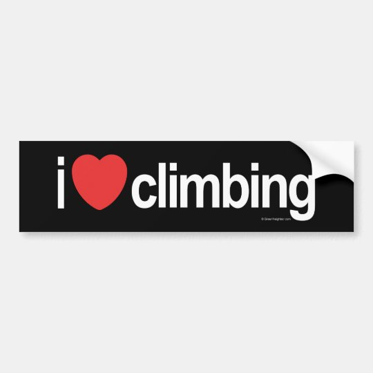 I Love Climbing Bumper Sticker