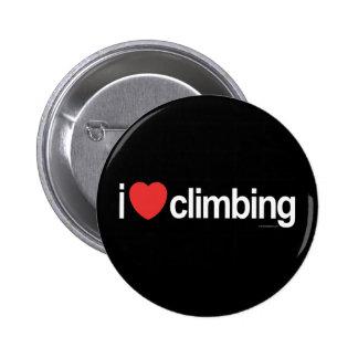 I Love Climbing Pinback Button