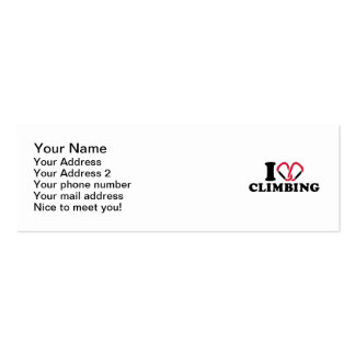 I love Climbing carabiner Double-Sided Mini Business Cards (Pack Of 20)