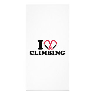 I love Climbing carabiner Picture Card