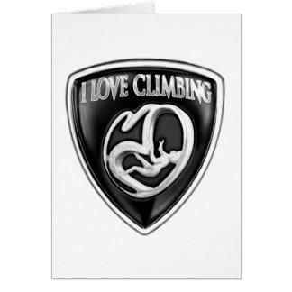 i love climbing card